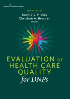 Evaluation of Health Care Quality for DNPs  Second Edition PDF