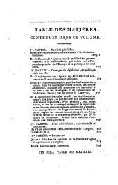 Examen des Actes et des Ouvrages Qui Tendent à Détruire ou à Consolider la Constitution de l'État: Volume6
