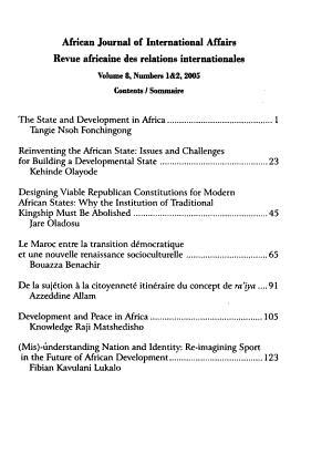 African Journal of International Affairs PDF