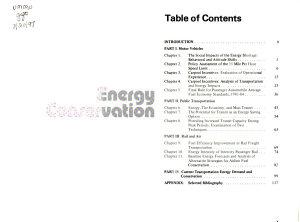 Energy Conservation in Transportation