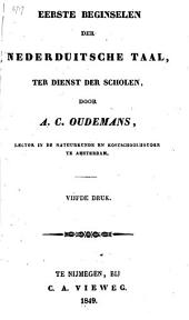 Eerste beginselen der nederduitsche taal, ten dienst der scholen