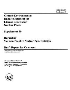 Generic EIS for Nuclear Power Plant Operating Licenses Renewal PDF