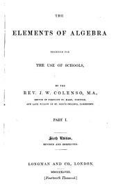 The elements of algebra: Volume 1