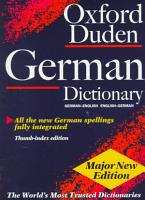The Oxford Duden German Dictionary PDF