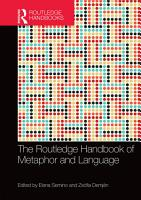 The Routledge Handbook of Metaphor and Language PDF