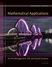 Mathematical Applications for the Management, Life, and Social Sciences: Edition 11