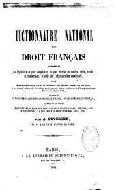 Dictionnaire national de droit français