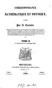 Correspondance mathématique et physique, publ. par mm. Garnier et Quetelet. (Royaume des Pays-bas).