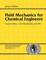Fluid Mechanics for Chemical Engineers with Microfluidics and CFD PDF