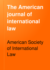 The American Journal of International Law Book