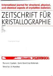 Zeitschrift Für Kristallographie