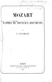 Mozart d'après de nouveaux documents