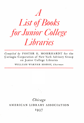 A List of Books for Junior College Libraries PDF