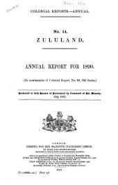 Colonial Reports - Annual