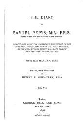 The Diary of Samuel Pepys: Volume 7