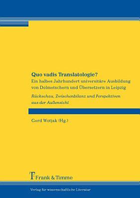 Quo vadis Translatologie  PDF