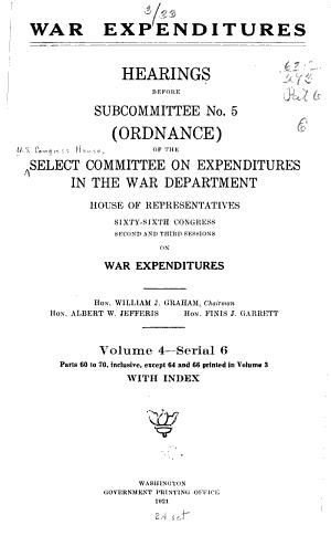 War Expenditures