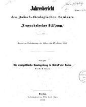 Die westgothische Gesetzgebung in Betreff der Juden