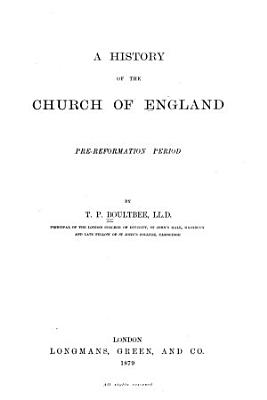 A History of the Church of England PDF
