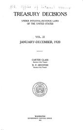 Treasury decisions under internal revenue laws of the United States: Volume 22