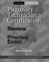 Pharmacy Technician Certification Review and Practice Exam PDF