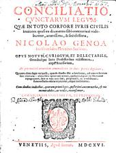 Conciliatio cunctarum legum, quae in toto corpore iuris civilis ... contrariarum
