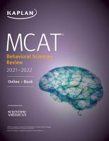 MCAT Behavioral Sciences Review 2021 2022 PDF