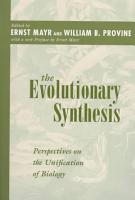 The Evolutionary Synthesis PDF