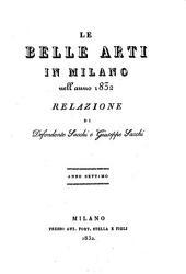 Le belle arti in Milano 1832