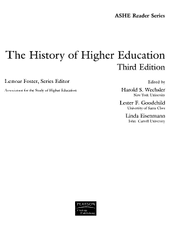 The History of Higher Education PDF