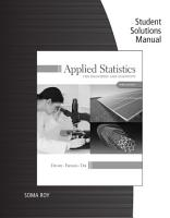 Student Solutions Manual for Devore Farnum Doi s Applied Statistics for Engineers and Scientists  3rd PDF