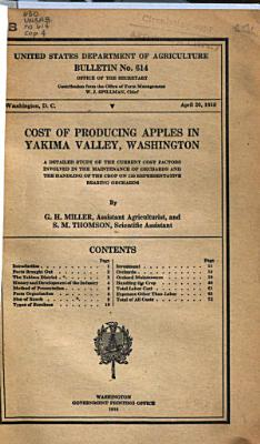 Cost of Producing Apples in Yakima Valley  Washington