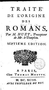 Traité de l'origine des romans