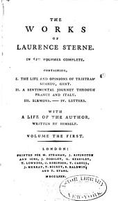The Works of Laurence Sterne ...: Memoirs. Tristram Shandy
