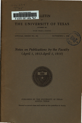 Publications by Members of the Faculty