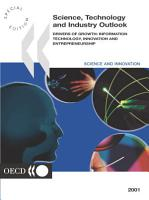 Science  Technology and Industry Outlook 2001 Drivers of Growth  Information Technology  Innovation and Entrepreneurship PDF