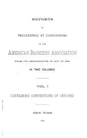 Proceedings of the Convention of Banks and Bankers: 1875