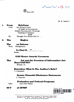 The GAO REVIEW War on Science WINTER 1979 PDF