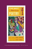 The Best American Poetry 2013 PDF