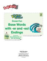 Base Words with  er and  est Endings  Ocean Fun Literacy Center PDF