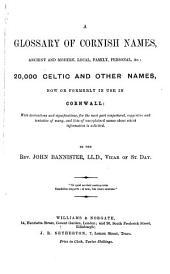 A Glossary of Cornish Names,