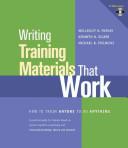 Writing Training Materials That Work