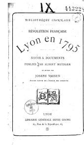 Révolution française: Lyon en 1795