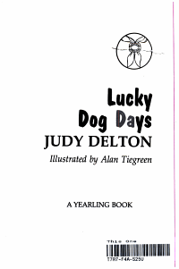 Weekly Reader Books Presents Lucky Dog Days PDF