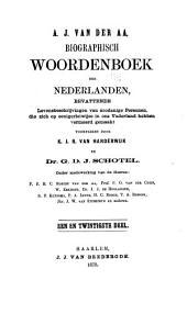 Biographisch woordenboek der Nederlanden: bevattende levensbeschrijvingen van zoodanige personen, die zich op eenigerlei wijze in ons vaderland hebben vermaard gemaakt, Volume 21