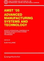 AMST 05 Advanced Manufacturing Systems and Technology PDF