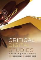 Critical Digital Studies PDF