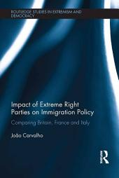 Impact of Extreme Right Parties on Immigration Policy: Comparing Britain, France and Italy