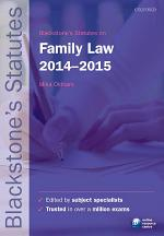 Blackstone's Statutes on Family Law 2014-2015