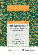 Post Sustainability and Environmental Education PDF